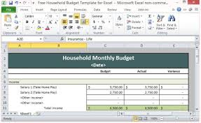 Excel Home Budget Template Free Household Budget Template For Excel