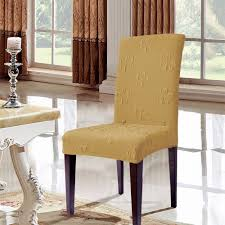 subrtex flower jacquard stretch dining room chair slipcovers