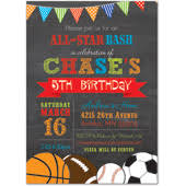 kids birthday party invitations sports u0026 gymnastics