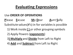 1 2 evaluate and simplify algebraic expressions numeric