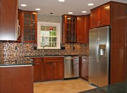 Nice Kitchen Designs by Exciting Sectional Tile Backsplash Wooden Cabinets Kitchen Remodel