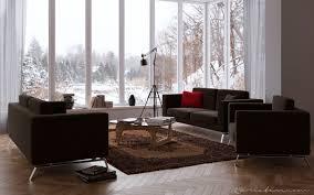 chocolate living room 25creative chocolate living room with windowed wall interior