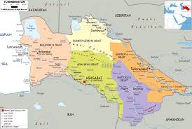 Political Map Asia by Large Political And Administrative Map Of Turkmenistan With Roads