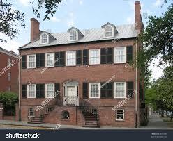 historic brick house windows dormers stock photo 3091085