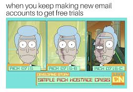 Make Your Own Meme Free - rick and morty meme keep making new emails to get free trials on
