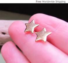 modern gold stud earrings gold stud earrings 10mm post stud earrings