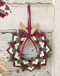 wreath ornament fabric folding origami pinterest wreaths