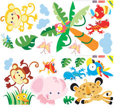 baby shower jungle animals clipart 74