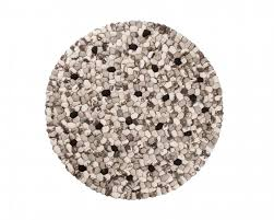 White Round Rugs Black And White Round Rug Wool Felt Stones Carpet From India