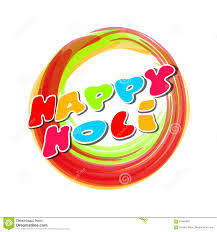colorful round banner for the indian festival of colors happy
