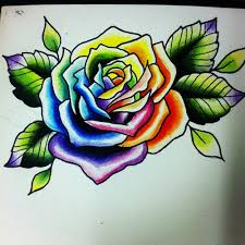 5 latest rainbow rose tattoo designs