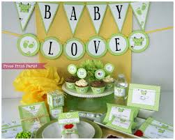 neutral baby shower themes baby shower decorations printable set gender neutral green