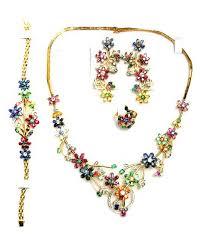 gemstone necklace sets images Ceylon multicolor gemstone jewelry sets ceylon sri lanka rubies jpg