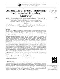 an analysis of money laundering and terrorism fnancing typologies