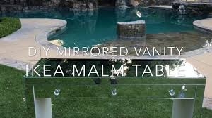 Vanity Table Ikea by Diy Mirrored Vanity Table Ikea Malm Table Youtube