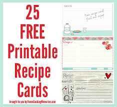25 free printable recipe cards recipe cards free printable and