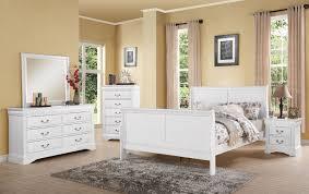 louis philippe iii 4pc full white bedroom set 24510f