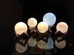 3d Lamps Amazon Amazon Com Cpla Lighting Night Light Led 3d Printing Moon Lamp