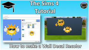 Wall Sticker Warehouse The Sims 4 Tutorial How To Make Your Own Custom Wall Sticker Youtube