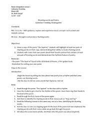 tremblay catherine music 405 integration lesson 1 language arts