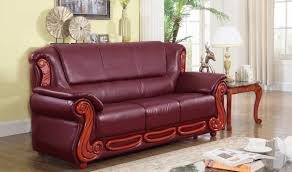 632 bella traditional living room set in burgundy by meridian
