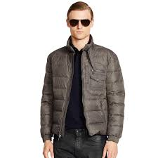 motogear jackets ralph lauren black label recruiter waxed down jacket in gray for