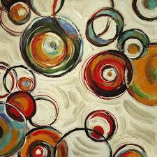 imagenes abstractas con circulos cuadro abstracto arte moderno