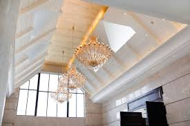 Lighting For Cathedral Ceiling In The Kitchen by How To Light A High Ceiling Lighting Design Ideas For Using