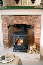 brick fireplace designs for stoves nomadictrade