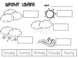 Kindergarten Weather Worksheets Working On Weather And Weather Words In You Classroom Or That The