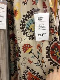 Suzani Curtain Gold And Suzani Cotton Curtain At Cost Plus World Market