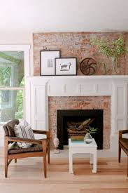 Modern Brick Wall by Full Brick Wall Fireplace Makeover Home Design Ideas Modern And