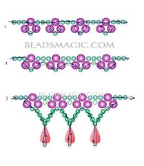 necklace beaded designs images Free pattern for beaded bridal necklace monica beads magic jpg