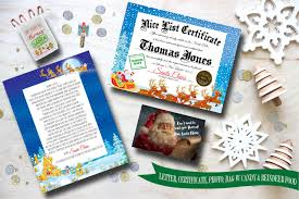 santa sleigh christmas package from santa claus letter from