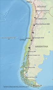 chile physical map chile physical map in of south america roundtripticket me