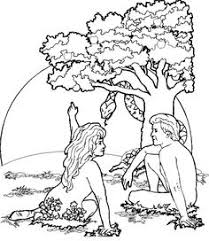 dibujos para colorear de adan y eva adam in eden colouring in adam eve eden lessons pinterest