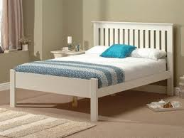 White Wood Bed Frame Wooden Bed Frames Oak And Pine Beds At Mattressman