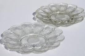antique deviled egg plate antique vintage pressed pattern glass dishes serving pieces