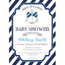 ahoy it u0027s a boy baby shower invitation u2013 blackline