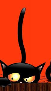 simplywallpapers com black cat halloween peeking all hallows eve