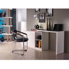bureau pivotant vente unique bureau extensible pavel mdf laqué blanc plateau