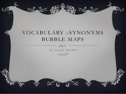 synonym for map vocabulary synonym tree map