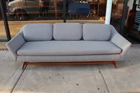 Grey Modern Sofa Mid Century Modern Sofa W Ottoman
