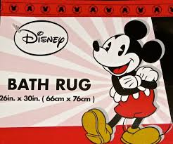 Mickey Bathroom Accessories by Disney Mickey Mouse Bath Rug Amazon Co Uk Kitchen U0026 Home