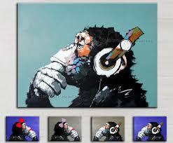 decorative art handmade monkey oil painting on canvas living room