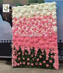 wedding backdrop flower wall uvg 6ft flower wall backdrop with white artificial and