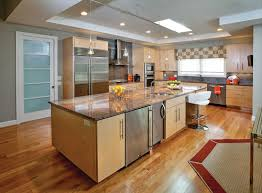 pleasant kitchen wall colors with light brown cabinets what color