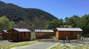 camping plans now you can sleep in a log cabin at lopez lake log cabins at lopez lake recreational area photo san luis obispo county