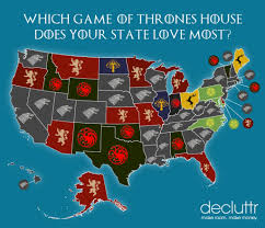 us map of thrones this map shows which of thrones house each state in america