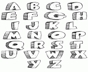 graffiti alphabet style bubble letters coloring pages printable